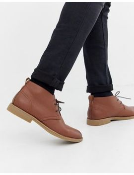 New Look Faux Leather Desert Boots In Tan by New Look