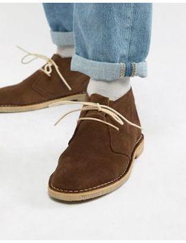 Asos Design Desert Boots In Brown Suede by Asos Design