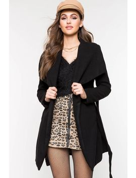 Destiny Belted Coat by A'gaci