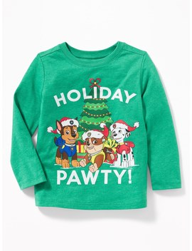 "Paw Patrol™ ""Holiday Pawty!"" Tee For Toddler Boys by Old Navy"