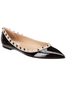 Valentino Rockstud Patent Leather Ballet Flat by Valentino