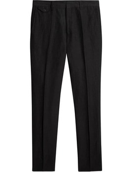 Linen Silk Tailored Trousers by Burberry