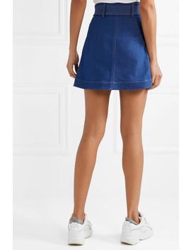 Belted Denim Mini Skirt by Paper London