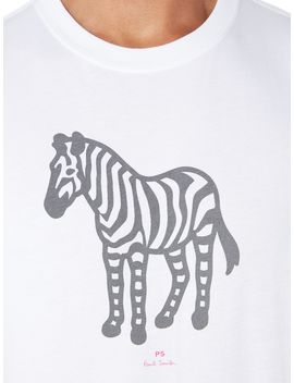 Organic Cotton Reflective Zebra T Shirt by Ps By Paul Smith