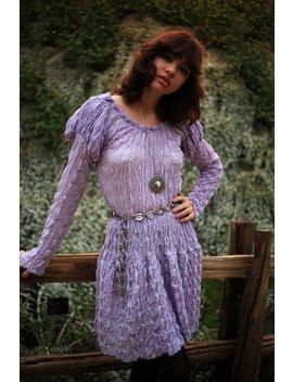 60's Ruche Mini Dress by Etsy