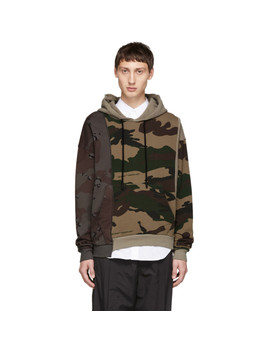 Multicolor Camo Reconstructed Hoodie by Off White