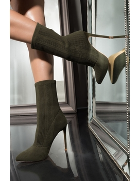 Nitty Gritty Ankle Pointed Toe Booties by Akira