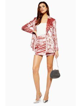 Bonded Velvet Skirt by Topshop