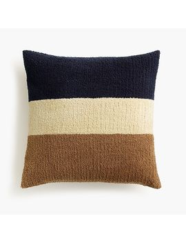 J.Crew Home Bouclé Rugby Pillow by J.Crew