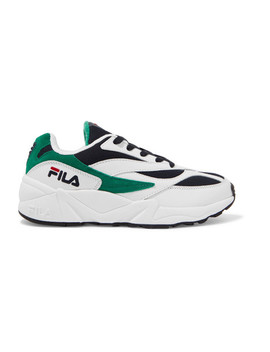 Venom Low Leather, Suede And Canvas Sneakers by Fila