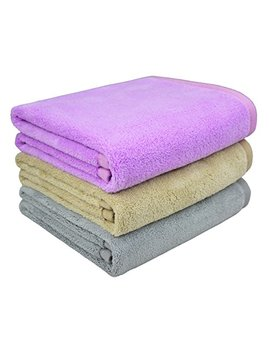 Mayouth Hair Towels Super Soft Absorbent Bath Towels Microfiber Towels Fast Drying Anti Frizz For Long & Thick Hair (16inch X 32inch, 3 Pack) by Mayouth