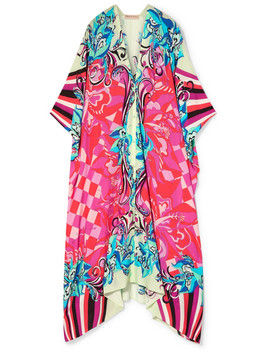 Printed Voile Kaftan by Emilio Pucci