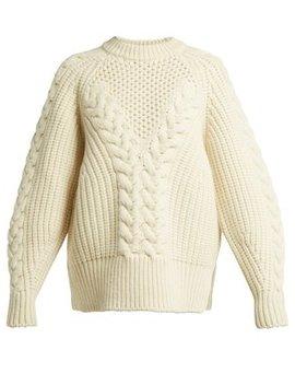 Aran Knit Wool Sweater by Alexander Mc Queen