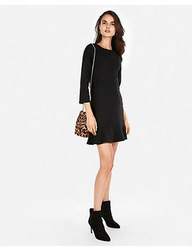 Ruffle Hem Fit And Flare Dress by Express
