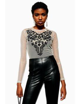 Necklace Trim Bodysuit by Topshop