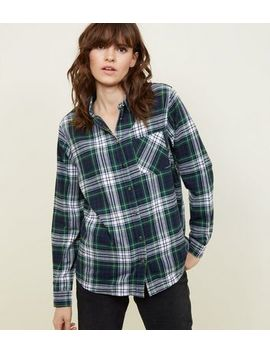 Green Check Print Long Sleeve Shirt by New Look