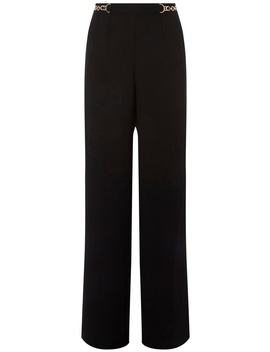 **Tall Black Chain Palazzo Trousers by Dorothy Perkins