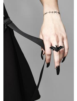 Veil Of Darkness Bat Ring by Ana Accessories