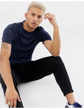 River Island Muscle Fit T Shirt In Navy by River Island