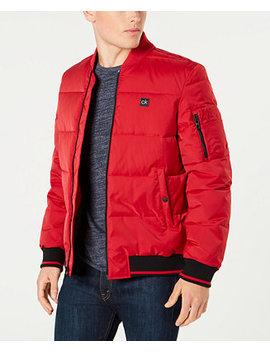 Men's Puffer Baseball Collar Jacket by Calvin Klein