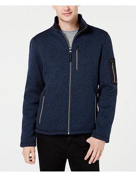 Men's Sweater Fleece Jacket by Calvin Klein