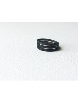 Minimal Iron Ring, Simple Black Ring, Plain Handmade Ring, Dark Grey Ring, Metal Rustic Ring, Raw Wire Ring, Unisex Steel Band, Women Band by Etsy