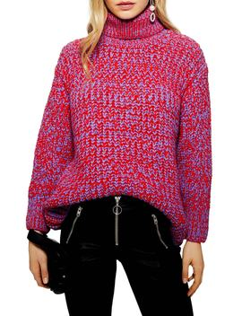 Chunky Roll Neck Sweater by Topshop