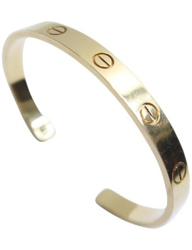 Yellow Love Cuff Size 17 Bracelet by Cartier