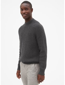 Ribbed Mockneck Pullover Sweater by Gap