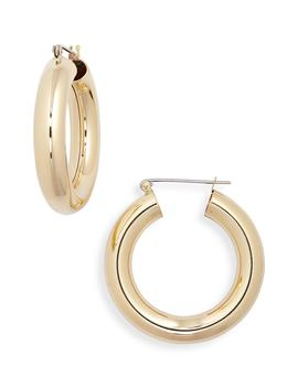 Round Hoop Earrings by Laura Lombardi