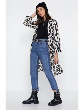 I Gotta Feline Leopard Duster Coat by Nasty Gal