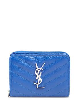 'kate' Quilted Calfskin Leather French Wallet by Saint Laurent