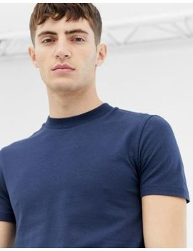 Collusion Muscle Fit T Shirt In Navy by Collusion