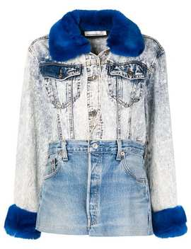 Fur Collar Patchwork Jacket by Night Market