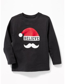 Holiday Graphic Long Sleeve Tee For Toddler Boys by Old Navy