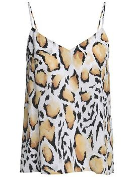Leopard Print Washed Silk Camisole by Equipment