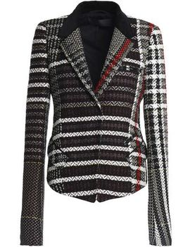 Velvet Trimmed Tweed Blazer by Haider Ackermann