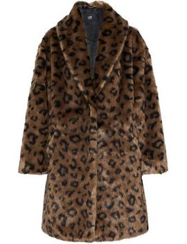 Olivia Leopard Print Faux Fur Coat by Line