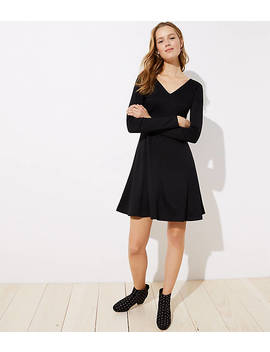 Petite Doubleface Flare Dress by Loft