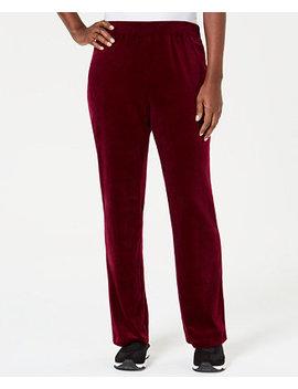Petite Velour Pull On Pants, Created For Macy's by Karen Scott