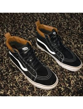 Vans Sk8 Hi Mte Black/ Brown Leather by Vans