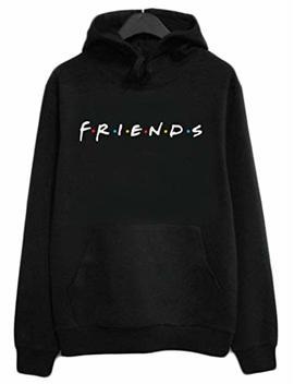 Joeoy Women's Casual Loose Friends Letter Print Hoodie Pullover Long Sleeve Sweatshirt by Joeoy