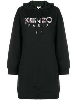 Embroidered Logo Sweatshirt Dress by Kenzo