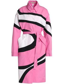 Printed Cotton Trench Coat by Emilio Pucci
