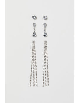 3 пары серег со стразами by H&M