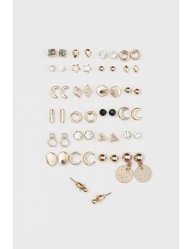 25 пар серег гвоздиков by H&M