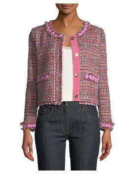 Flower Trim Tweed Jacket by Boutique Moschino