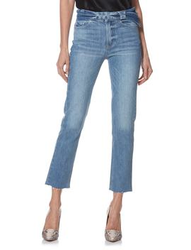 Hoxton Sash High Waist Ankle Straight Leg Jeans by Paige