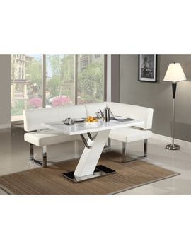 Christopher Knight Home Leah Gloss White/Chrome Dining Table by Christopher Knight Home