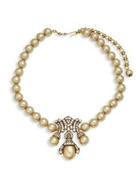 Deco Faux Pearl Pendant Necklace by Heidi Daus
